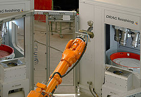 Work piece handling of multiple process steps by means of high-tech robotic technology