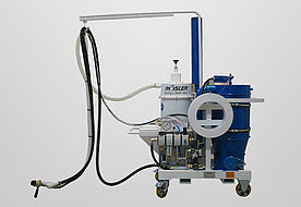 Mobile pneumatic pressure blasting system VACJET ACP